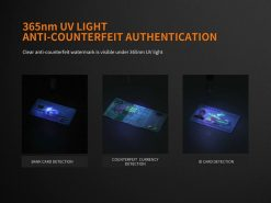 Fenix LD05 V2.0 EDC LED Flashlight with UV Lighting - 100 Lumens Infographic 9
