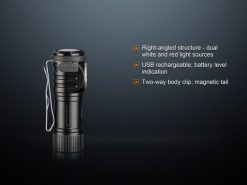 Fenix LD15R USB Rechargeable Right Angle Flashlight - 500 Lumens Infographic 3