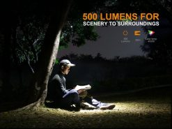 Fenix LD15R USB Rechargeable Right Angle Flashlight - 500 Lumens Infographic 5