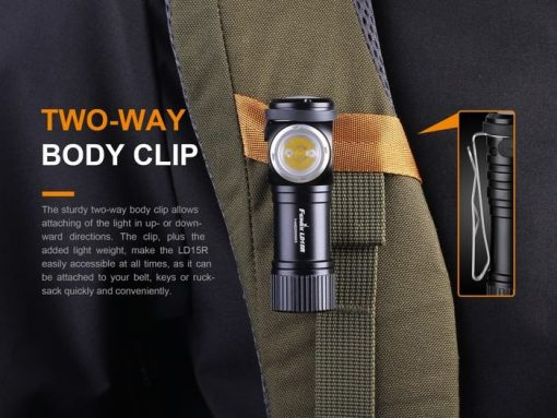 Fenix LD15R USB Rechargeable Right Angle Flashlight - 500 Lumens Infographic 9