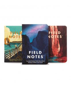 Field Notes National Parks Series A Yosemite/Zion/Acadia - Graph Paper Memo Book 3 Pack (48 Pages) Front Side Center Separate