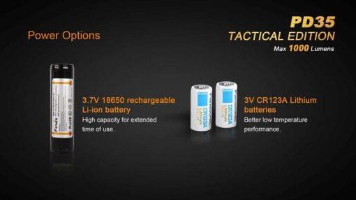 Fenix PD35 V2.0 Digital Camo Edition Tactical Flashlight - 1000 Lumens Infographic 13