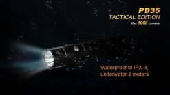 Fenix PD35 V2.0 Digital Camo Edition Tactical Flashlight - 1000 Lumens Infographic 15