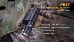 Fenix PD35 V2.0 Digital Camo Edition Tactical Flashlight - 1000 Lumens Infographic 4