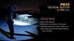 Fenix PD35 V2.0 Digital Camo Edition Tactical Flashlight - 1000 Lumens Infographic 8