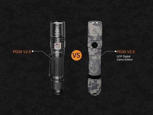 Fenix PD35 V2.0 Digital Camo Edition Tactical Flashlight - 1000 Lumens Infographic 3
