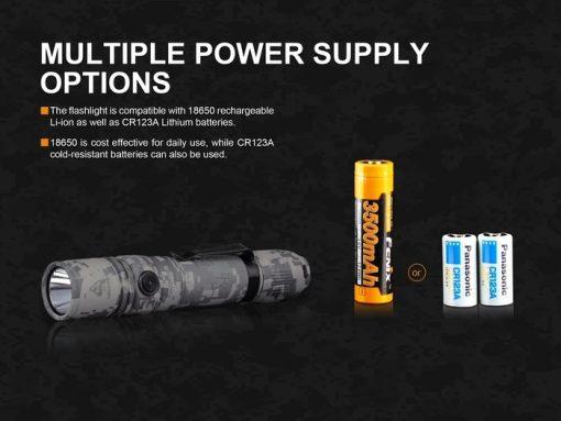 Fenix PD35 V2.0 Digital Camo Edition Tactical Flashlight - 1000 Lumens Infographic 11