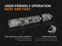 Fenix PD35 V2.0 Digital Camo Edition Tactical Flashlight - 1000 Lumens Infographic 12