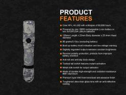 Fenix PD35 V2.0 Digital Camo Edition Tactical Flashlight - 1000 Lumens Infographic 16