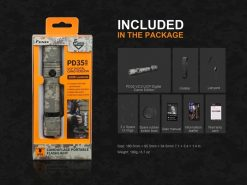 Fenix PD35 V2.0 Digital Camo Edition Tactical Flashlight - 1000 Lumens Infographic 17