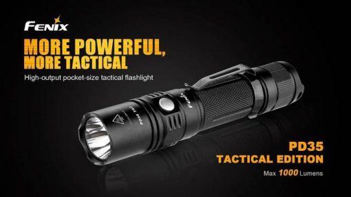 Fenix PD35 V2.0 Digital Camo Edition Tactical Flashlight - 1000 Lumens Infographic 2