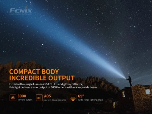 Fenix PD40R V2.0 Flashlight - 3000 Lumens Infographic 2