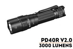 Fenix PD40R V2.0 Flashlight - 3000 Lumens Front Side With Title