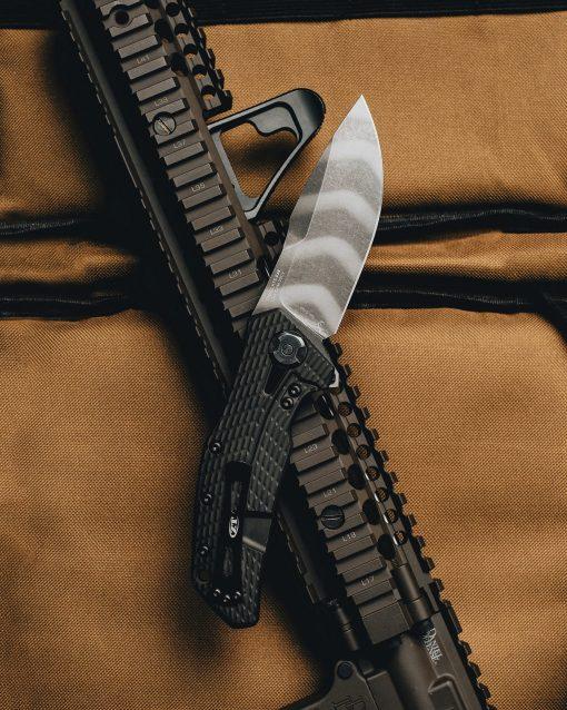 Zero Tolerance 0308 20CV Blade Coyote G-10/Titanium Handle With Background 2