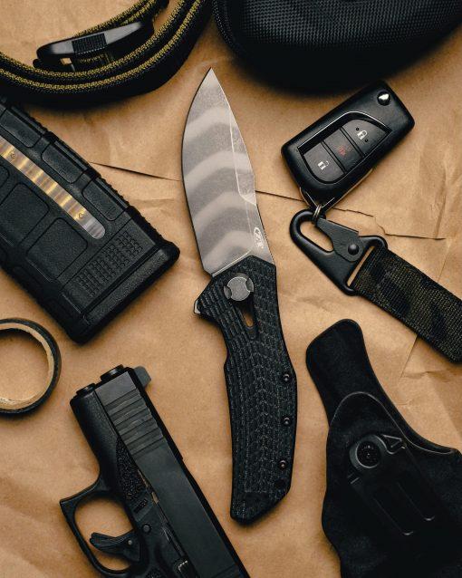 Zero Tolerance 0308 20CV Blade Coyote G-10/Titanium Handle With Background 3