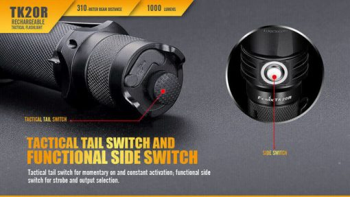 Fenix TK20R Rechargeable LED Tactical Flashlight - 1000 Lumens Infographic 10
