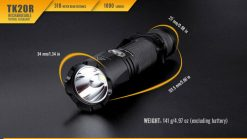 Fenix TK20R Rechargeable LED Tactical Flashlight - 1000 Lumens Infographic 13