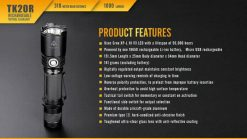 Fenix TK20R Rechargeable LED Tactical Flashlight - 1000 Lumens Infographic 17