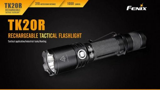 Fenix TK20R Rechargeable LED Tactical Flashlight - 1000 Lumens Infographic 2
