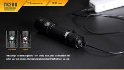 Fenix TK20R Rechargeable LED Tactical Flashlight - 1000 Lumens Infographic 6