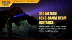 Fenix TK20R Rechargeable LED Tactical Flashlight - 1000 Lumens Infographic 7