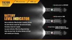 Fenix TK20R Rechargeable LED Tactical Flashlight - 1000 Lumens Infographic 9