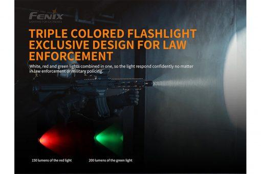 Fenix TK26R Tactical Flashlight - 1500 Lumens Infographic 2