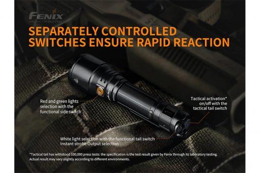 Fenix TK26R Tactical Flashlight - 1500 Lumens Infographic 4