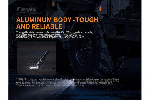 Fenix TK26R Tactical Flashlight - 1500 Lumens Infographic 9