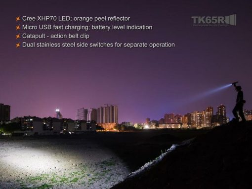 Fenix TK65R Rechargeable LED Flashlight - 3200 Lumens Infographic 11