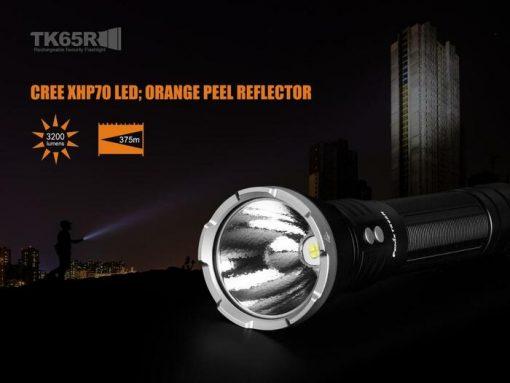 Fenix TK65R Rechargeable LED Flashlight - 3200 Lumens Infographic 13
