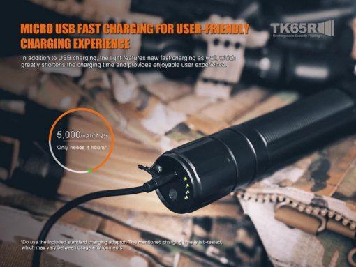 Fenix TK65R Rechargeable LED Flashlight - 3200 Lumens Infographic 14