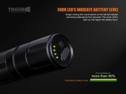 Fenix TK65R Rechargeable LED Flashlight - 3200 Lumens Infographic 1