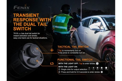 Fenix TK16 V2.0 Tactical Flashlight - 3100 Lumens Infographic 16