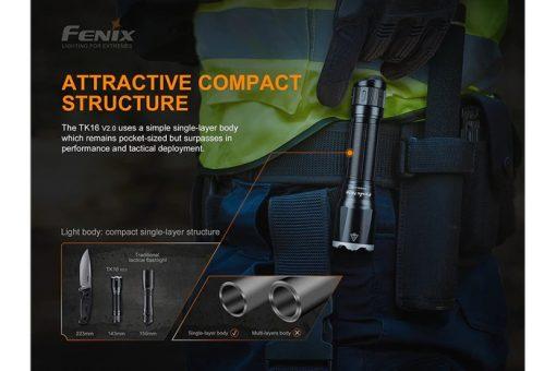 Fenix TK16 V2.0 Tactical Flashlight - 3100 Lumens Infographic 4