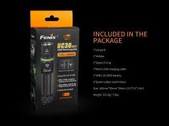 Fenix UC30 LED Rechargeable Flashlight - 1000 Lumens Infographic 5