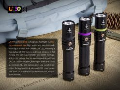 Fenix UC30 LED Rechargeable Flashlight - 1000 Lumens Infographic 8
