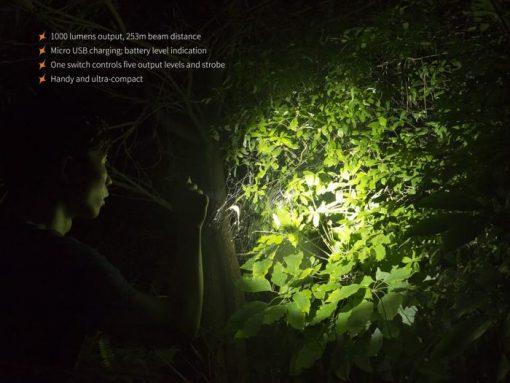Fenix UC30 LED Rechargeable Flashlight - 1000 Lumens Infographic 9