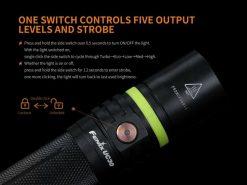 Fenix UC30 LED Rechargeable Flashlight - 1000 Lumens Infographic 13