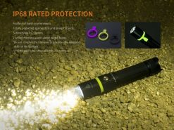 Fenix UC30 LED Rechargeable Flashlight - 1000 Lumens Infographic 1