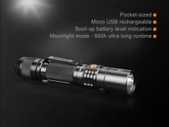 Fenix UC35 V2.0 LED Rechargeable Flashlight - 1000 Lumens Infographic 3