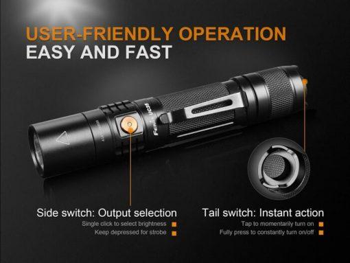 Fenix UC35 V2.0 LED Rechargeable Flashlight - 1000 Lumens Infographic 9