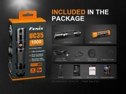 Fenix UC35 V2.0 LED Rechargeable Flashlight - 1000 Lumens Infographic 15