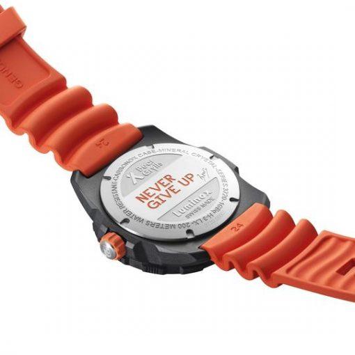 Luminox Bear Grylls Survival SEA 3720 Series 3729.NGU Black/Orange Back Side Open Angled