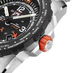 Luminox Bear Grylls Survival AIR Series 3762 GMT Watch Bezel Close Up