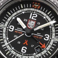 Luminox Bear Grylls Survival AIR Series 3762 GMT Watch Face Close Up