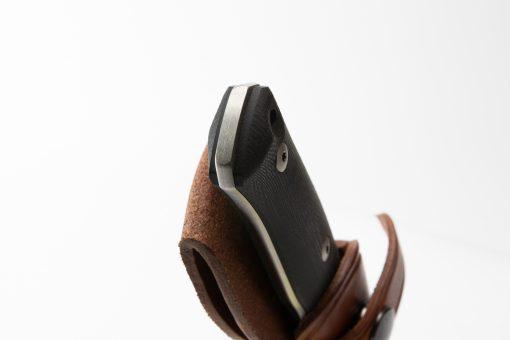 Lionsteel B35 Sleipner Steel Blade Black G10 Handle End Close Up