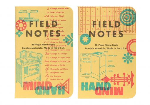 Field Notes United States of Letterpress 3 Pack C - Graph Paper Memo Books (48 Pages) Pair 1