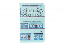 Field Notes United States of Letterpress 3 Pack C - Graph Paper Memo Books (48 Pages) Front Side Center SIngle