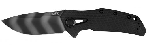 Zero Tolerance 0308BLKTS 20CV Black Blade Black G-10/Titanium Handle Front Side Open
